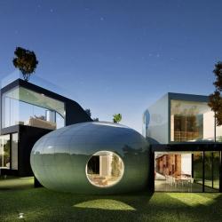 Futuristic Cocoon House
