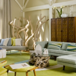 beach themed living room | dwellinggawker
