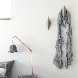DIY Diamond Concrete Hooks | dwellinggawker