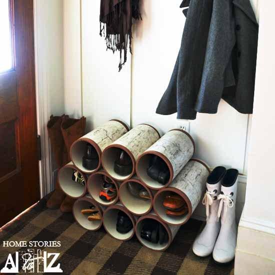 Diy Pipe Shoe Rack Diy Pvc Pipe Shoe